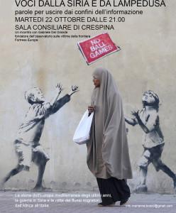 Voci dalla Siria e da Lampedusa
